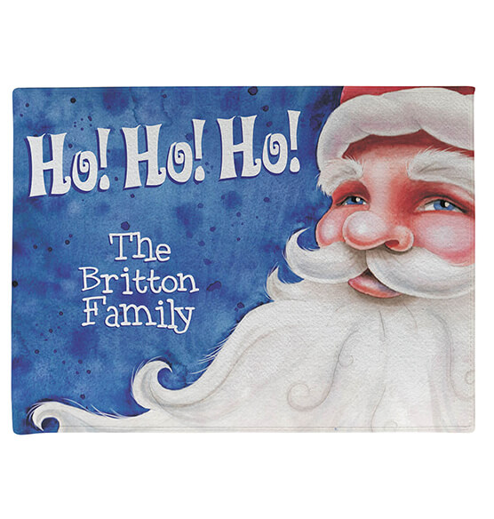 Personalized Santa Ho! Ho! Ho! Doormat - View 2