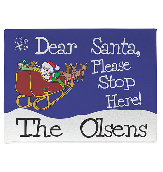 Personalized Dear Santa Doormat - View 2