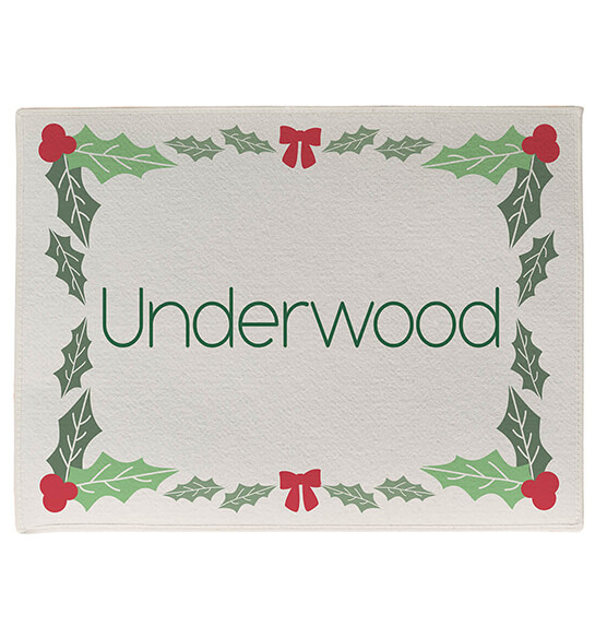 Personalized Holly Berries Doormat - View 2