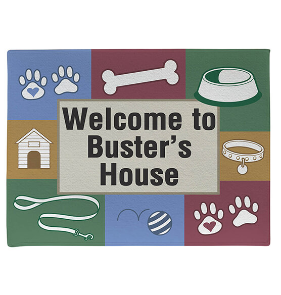 Personalized Dog Welcome Doormat - View 2