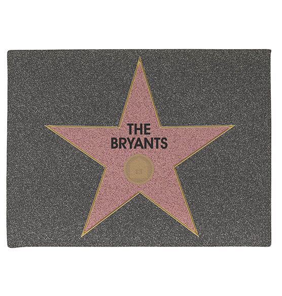 Personalized Hollywood Star Doormat - View 2