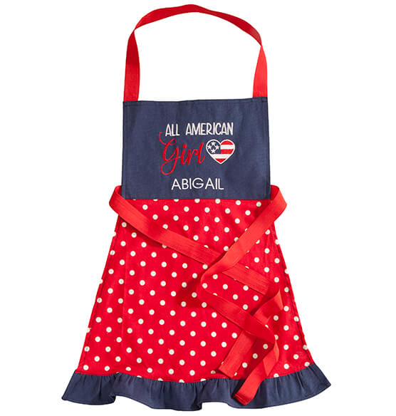 Personalized All American Girl Children's Apron - View 2