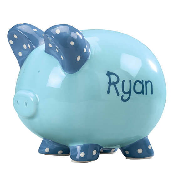 Personalized Kid's Whimsical Piggy Bank - View 2