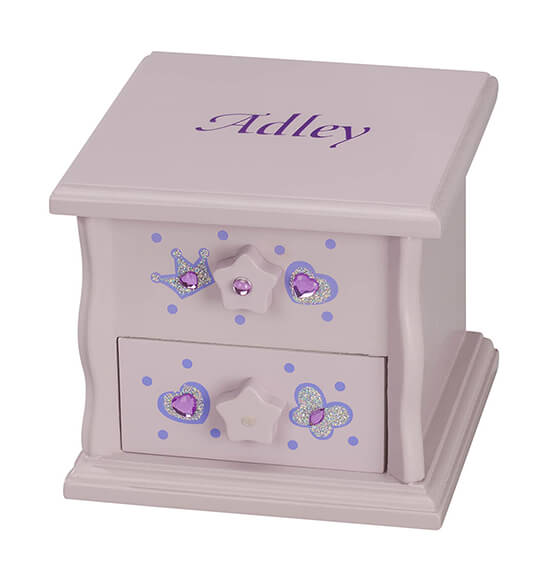 Personalized Children's Purple Musical Jewelry Box - View 3