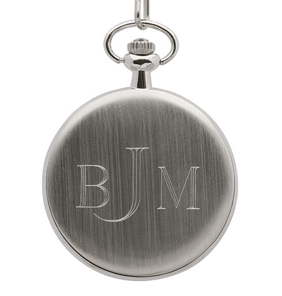 Monogrammed JFK Half Dollar Coin Pocket Watch - View 2