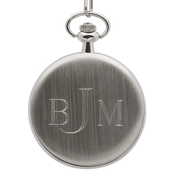 Monogrammed Gold-Layered JFK Half Dollar Coin Pocket Watch - View 2