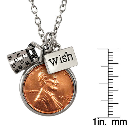 Year to Remember Penny Wish Coin Charm Necklace - View 3