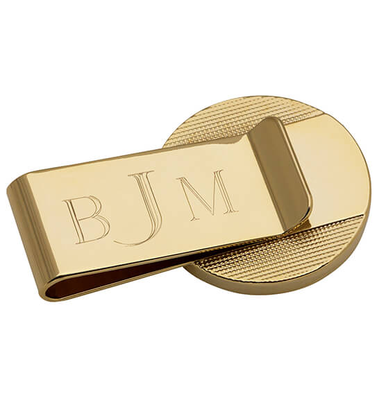Year To Remember Monogram Half Dollar Goldtone Money Clip - View 3