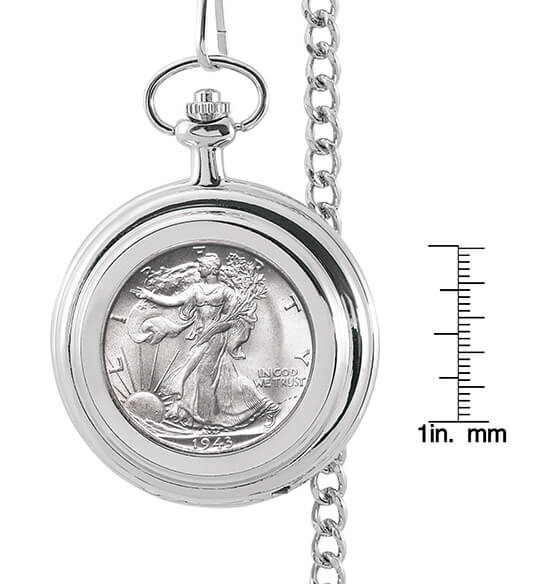 Year To Remember Monogrammed Half Dollar Coin Pocket Watch - View 3