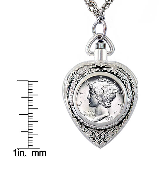 Year To Remember Coin Heart Watch Coin Pendant - View 3