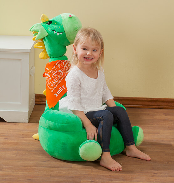 Personalized Children's 2-in-1 Dragon Chair - View 2