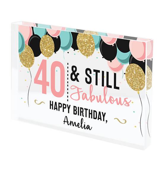 Personalized Acrylic Block Birthday Keepsake - View 2