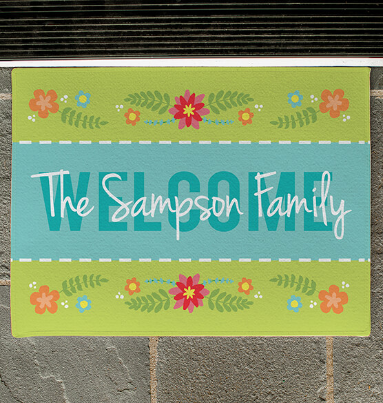 Personalized Welcome Spring Doormat - View 2