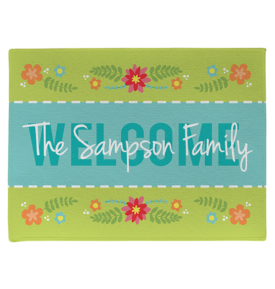 Personalized Welcome Spring Doormat - View 3