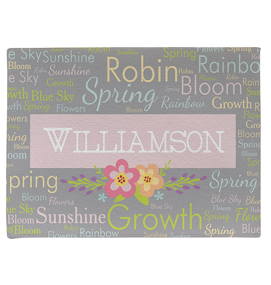 Personalized Spring Words Doormat - View 3