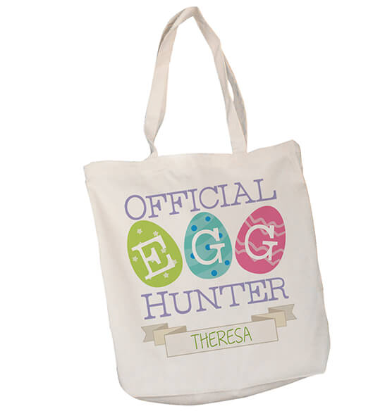 Personalized Egg Hunter Canvas Tote - View 2