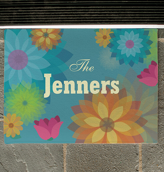 Personalized Spring Flowers Doormat - View 2