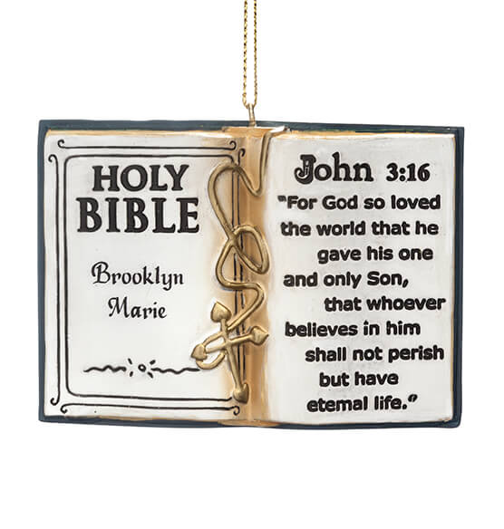 Personalized Holy Bible Ornament - View 2