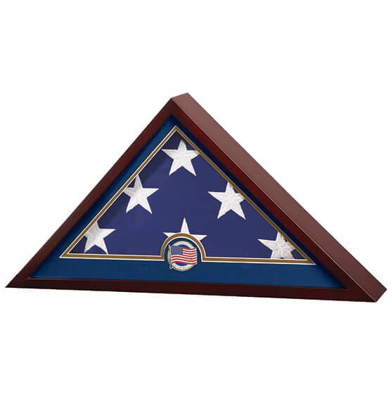 Flag Display Case with Medallion - View 2