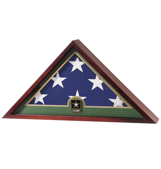Flag Display Case with Medallion - View 3