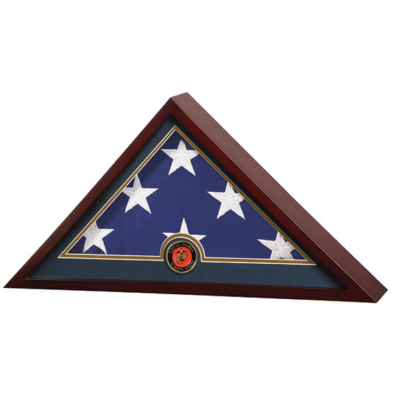 Flag Display Case with Medallion - View 4