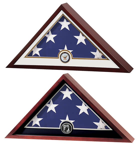 Flag Display Case with Medallion - View 5