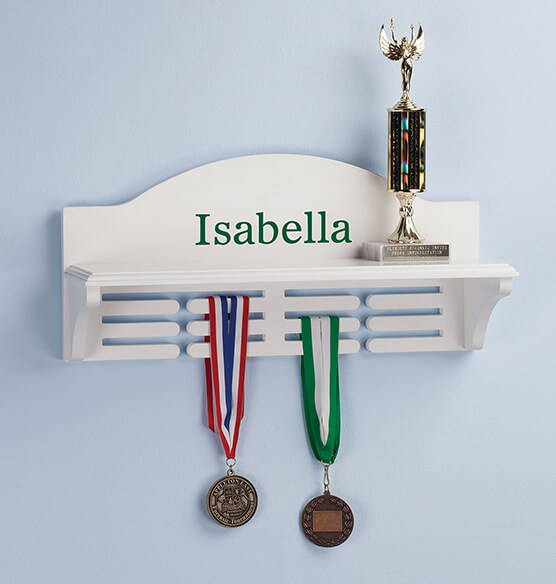 Personalized Medal and Trophy Holder - View 3