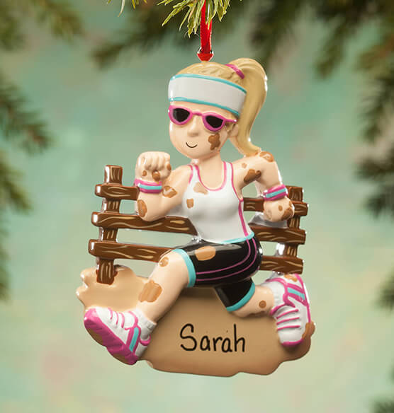 Personalized Mudder Ornament - View 2