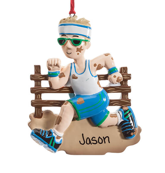 Personalized Mudder Ornament - View 3