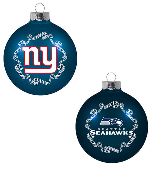 NFL Glass Ball Ornament - View 3