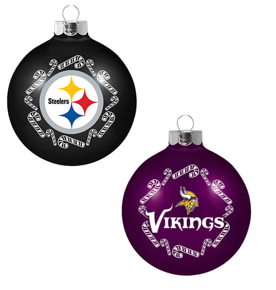 NFL Glass Ball Ornament - View 4