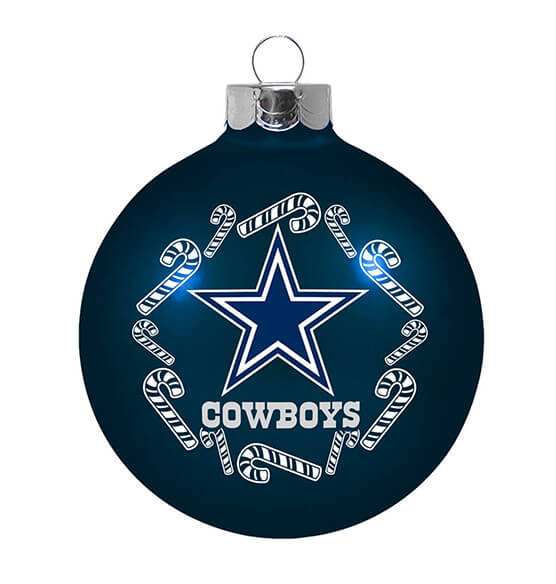 NFL Glass Ball Ornament - View 5