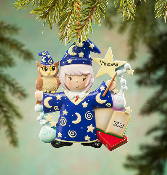 Personalized Wizard Ornament - View 3