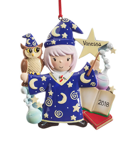 Personalized Wizard Ornament - View 4