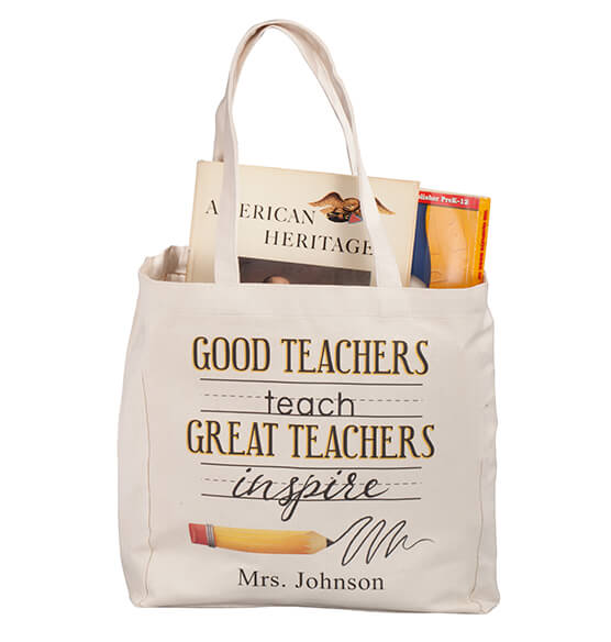 Personalized Teach & Inspire Tote - View 4