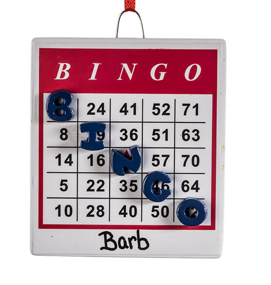 Personalized BINGO Ornament - View 2