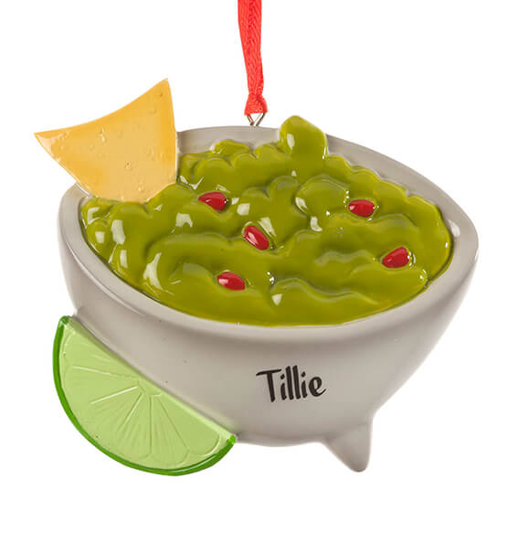 Personalized Guacamole Bowl Ornament - View 2