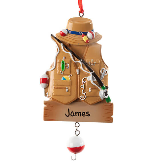 Personalized Fisher Ornament - View 2