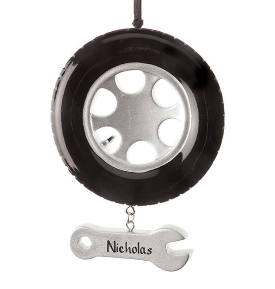 Personalized Tire Ornament - View 2