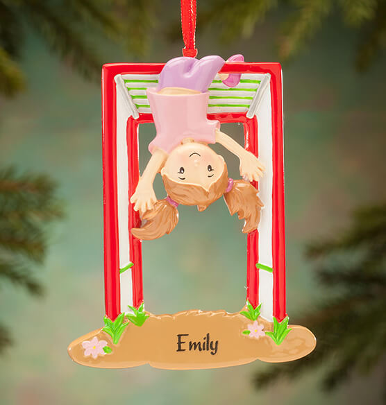 Personalized Monkey Bars Ornament - View 2