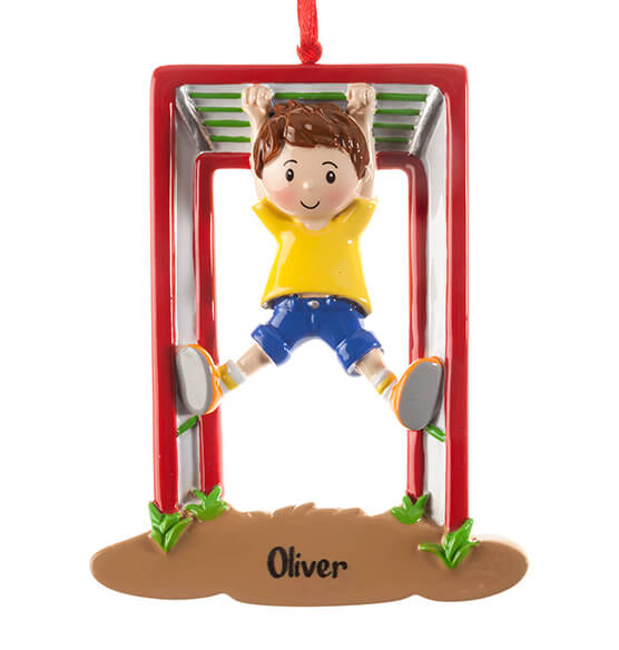 Personalized Monkey Bars Ornament - View 3