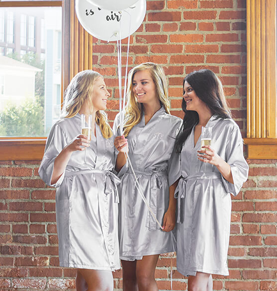 Personalized Luxury Satin Robe - View 2