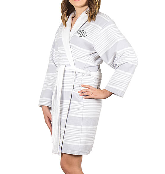 Personalized Turkish Cotton Robe - View 3