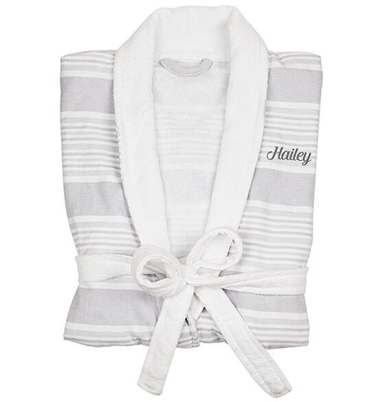 Personalized Turkish Cotton Robe - View 4