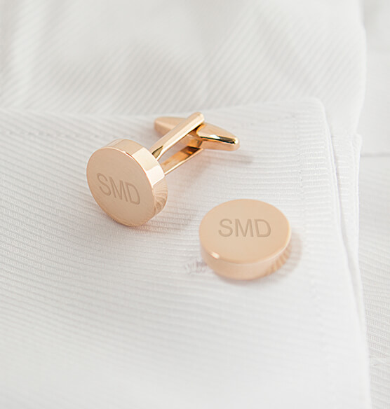 Personalized Round Cuff Links - View 4