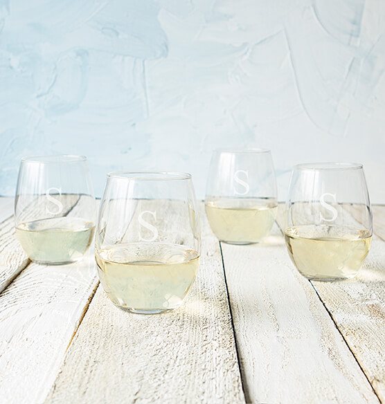 Personalized Stemless Wine Glasses 21 oz., Set of 4 - View 3