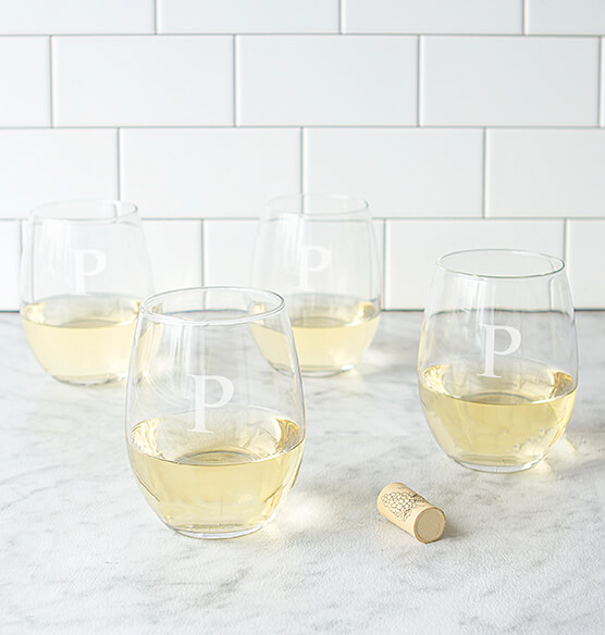 Personalized Stemless Wine Glasses 21 oz., Set of 4 - View 4