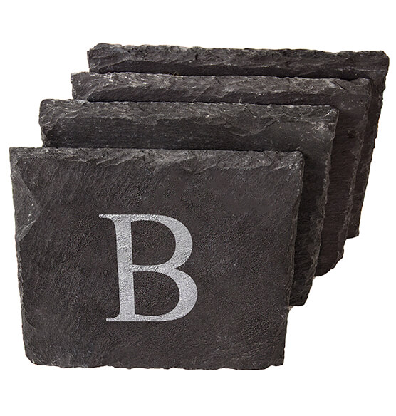 Personalized Slate Coasters, Set of 4 - View 2