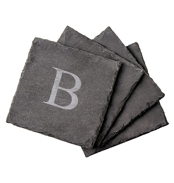 Personalized Slate Coasters, Set of 4 - View 3
