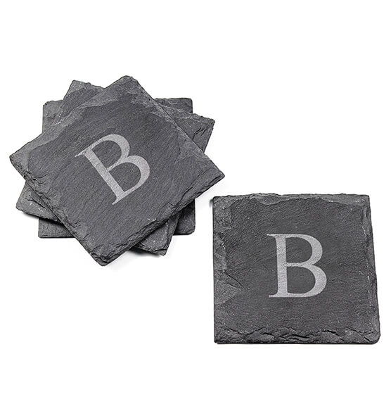 Personalized Slate Coasters, Set of 4 - View 4